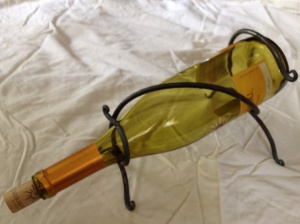 Wine bottle cradle. $18.